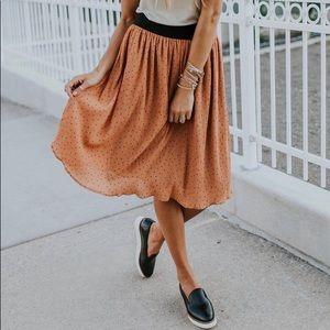Martindale Polka Dot Skirt - Roolee Boutique